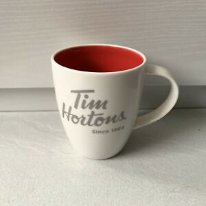 Tim Hortons Mug Limited Edition 2014 Mug Cup Red Inside