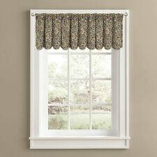 "Firewood Cabin Lodge Window Valance, Modern Rustic, Natural 60""x14""-NEW"