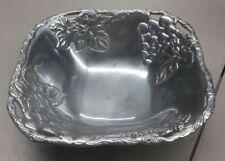 "Arthur Court 2001 Aluminum Grape Leaf Candy Dish Bowl Serving Dish 3"" Deep"