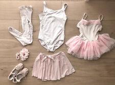 Girls Pink Ballet Lot #1 Bloch Tutu Leotards Tights Skirt Shoes 1.5 Ages 6-7