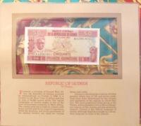 Most Treasured Banknotes Guinea 1985 50 Francs P-29a UNC Prefix AA