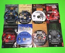 PS2 Games Bundle Playstation 2 SOCOM Myst 3 Terminator 3 Enter The Matrix Atari