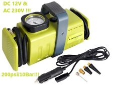Carmotion Heavy Duty Car Home Air Compressor 12DC 230V AC 4 Adapters Green