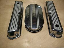 Ford 289 302 351W Raised Finned Aluminum Valve Covers Air Cleaner Kit Street Rod