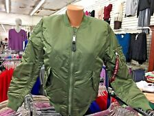 Alpha Industries -Womens MA-1 - Sage Green Jkt - SMALL ONLY