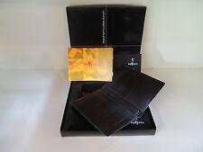 Delta Markiaro Top Dark Brown Leather Wallet 16cc Place for Passport Money Bill