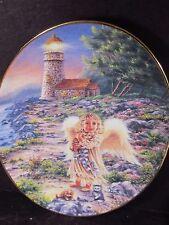 An Angel's Light A Little Kindness Shines Through Lighthouse Angel Cat Ltd Plate