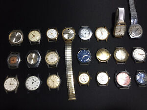 Joblot Old Mechanical Watches For Spares Or Repairs Only