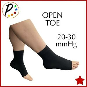 Presadee Open Toe 20-30 mmHg Firm Compression Ankle Foot Swelling Sleeves Socks