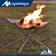Outdoor Portable Fire Pit for Camping Wood Burning Smokeless Bonfire Place Stand