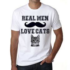 Real Men Love Cats 1 Tshirt, Tshirt Homme Blanc