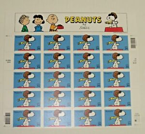 One (1) Sheet of SNOOPY PEANUTS by Schulz 34¢ US USA Postage Stamps. Sc # 3507