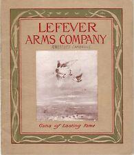 Lefever Arms Original 1912-13 Gun Catalog