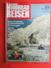 Motorrad Reisen , 2/3 `82  , Honda CBX , Yamaha SR , XT 500 , Suzuki GS 1000 G