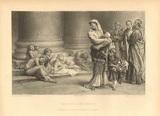 Non Angli, Sed Angeli, by Keeley Halswelle, Vintage, 1890 Antique Art Print.