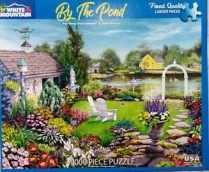"""White Mountain BY THE POND #1456 Jigsaw Puzzle 1000 piece 24x30"""" 2018 McIntyre"""
