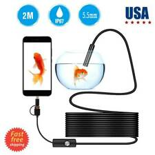 2M HD Endoscope Borescope Inspection Snake Camera for iPhone Android Mac 5.5mm