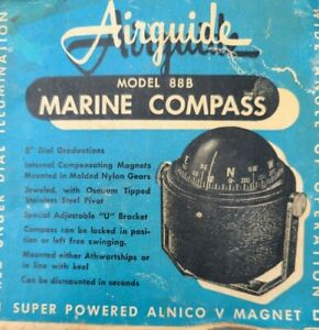 """Vintage Airguide """"Floating"""" Compass NOS with box"""