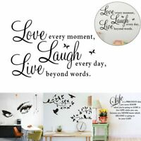 Removable Mural Vinyl Quote Wall Decal Stickers Home Room Decor Art Bedroom DIY
