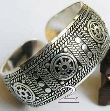2016 New Tibetan Tibet silver Totem Bangle Cuff Bracelet Geometric patte style 2