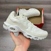 NIKE AIR MAX PLUS DECON TUNED TN TRAINERS WHITE SIZE UK10 US11 EUR45 CD0882-100