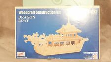 New Wooden Woodcraft Construction Kit Toy Dragon Boat sealed