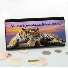 Personalised Tiger Sunset Wild Large Ladies Money Coin Purse Mum Gift SH260