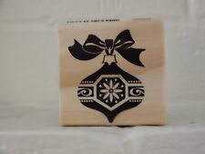 "Craft Smart Christmas Wood Stamps ""Christmas Ornament"" 2"" x 2"" So Adorable"