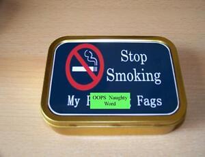 Stop Smoking My F****ng Fags 1 & 2oz Tobacco/Storage Tins