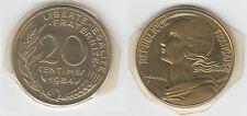 Gertbrolen 20 Centimes  Marianne en Cupro-Aluminium-Nickel 1984 Exemplaire N° 1