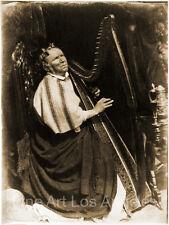 "Hill and Adamson Photo, ""Patrick Byrne, Irish Harpist"" 1845"
