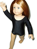 Black Leotard fits American Girl 18 inch doll clothes Ballet Gymnastics Dance