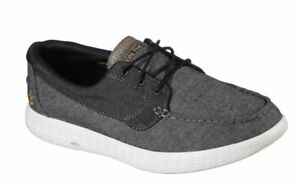 Skechers On The Go Glide - Coastline Boat Shoes Mens Canvas Deck Trainers 53800