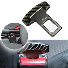 Carbon Fiber Safety Seat Belt Buckle Insert Alarm StopperEliminator Clip - Black