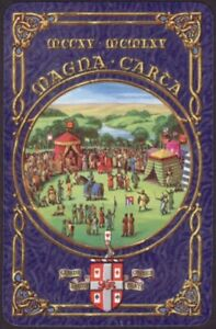 Playing Cards 1 Single Card Old Vintage 1965 WORSHIPFUL Co. Art MAGNA CARTA A