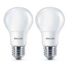 2 Pack Philips Led Esmerilado E27 Rosca Edison 60w Blanco Cálido Lámpara Bombilla 806Lm