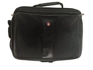 Swissgear Black Laptop Shoulder Carry On Organizer Bag