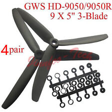 "8pcs GWS HD-9050 9x5"" 3-Blade Propeller CW CCW for RC FPV MultiRotor Quadcopter"
