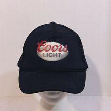 VTG Coors Light Beer Football Baseball Truckers Hat Mesh Cap
