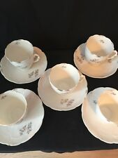 5~Antique Cups and saucers by Weimar Germany