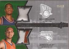 SEAN WILLIAMS & JARED DUDLEY 2007-08 SPx Freshman Tandems Patch #/15