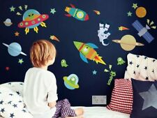 Outer Space Wall Stickers / Decors, Removable Fabric Stickers