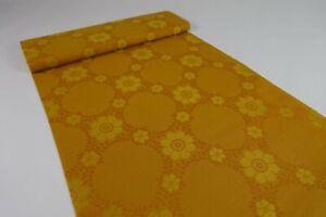 70er Vintage Stoff Gardine Meterware Stoffballen Dekostoff Fabric 60s NOS 4,4 M
