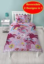 New Trolls Dreams Single Duvet Quilt Cover Set Girls Pink Kids Bedroom