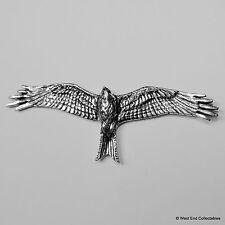 Red Kite Pewter Brooch Pin - British Artisan Signed Badge - Bird Falconry Hawk