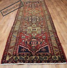 Persian Traditional Vintage Wool 328cmX110cm Oriental Rug Handmade Carpet Rugs