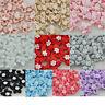 20 pcs Satin Ribbon Flowers Bows W/beads Appliques Wedding Decor Lots Mix E46