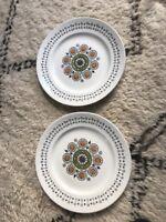 Pair Of 1960s Mid-century Broadhurst Kathie Winkle Renaissance Dinner Plates (2)