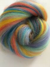 Rainbow Brite 10g Corriedale Wool Mix Felting, Spinning Bright Colour Mix