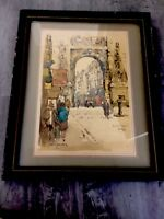 1960s Lithograph - Boulevard St.Denis Paris  Signed/titled Artist  Jan Korthals